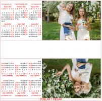 Calendario 3D anual personalizado