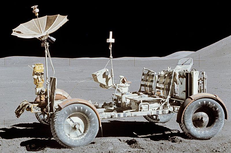 El Rover Lunar en la misión del Apolo 15.