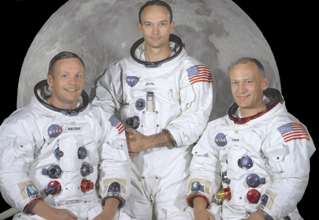 Los tres astronautas que llegaron a la Luna