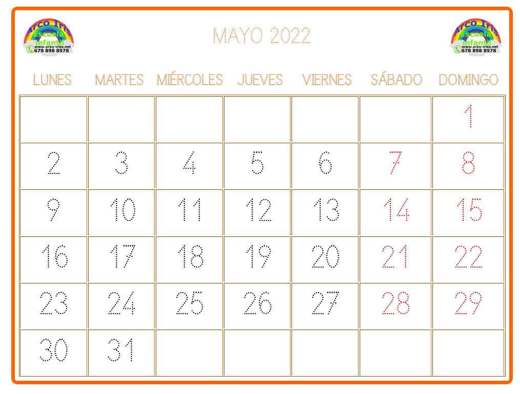 Calendarios infantiles personalizados. Calendario infantil personalizado con color y logotipo propio