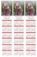 Calendario marcapáginas personalizado
