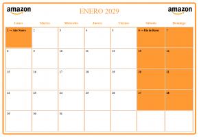 Calendario agenda anual personalizado