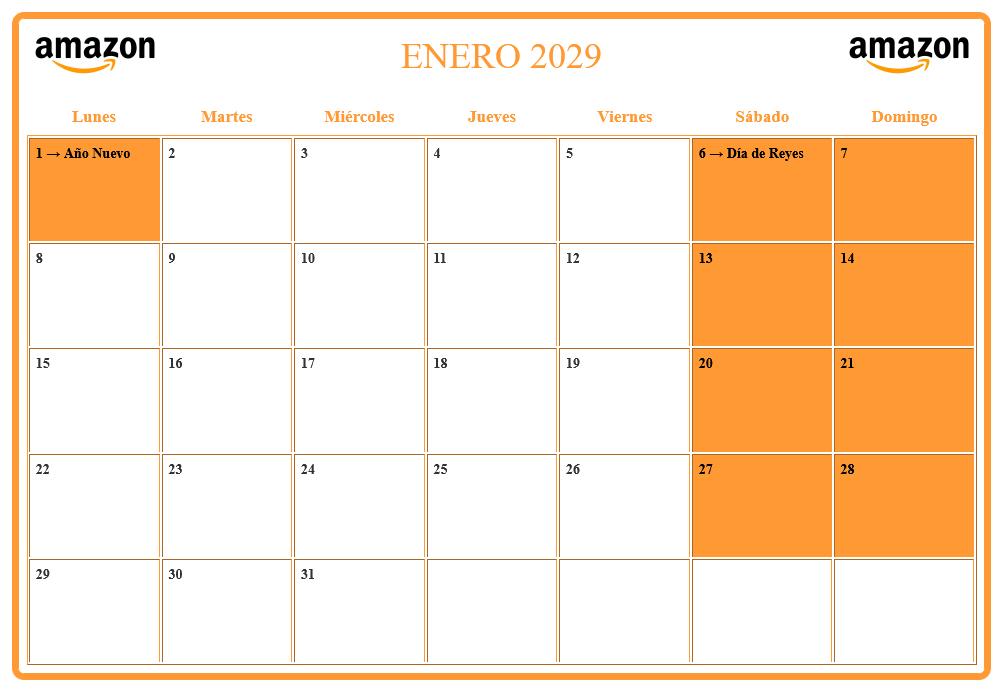 Calendario agenda personalizado