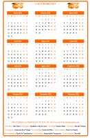 Calendario anual vertical personalizado